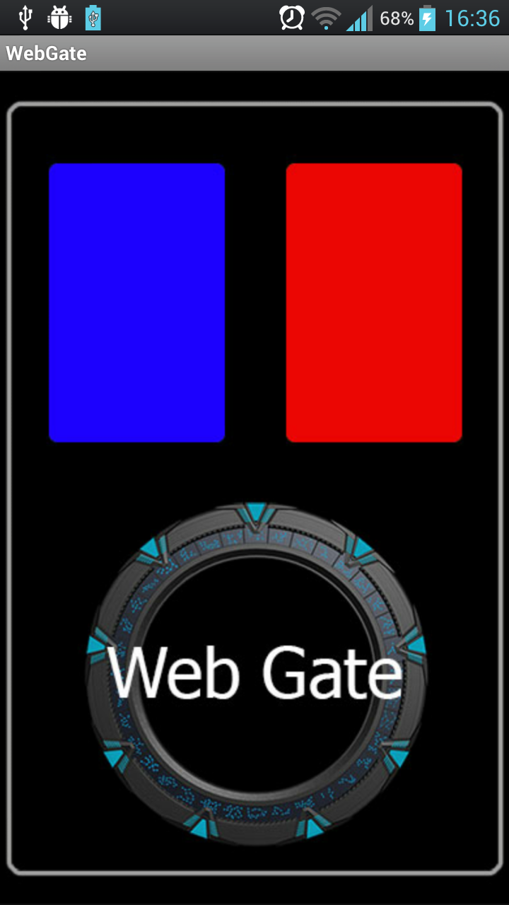 WebGate Android - grafica main